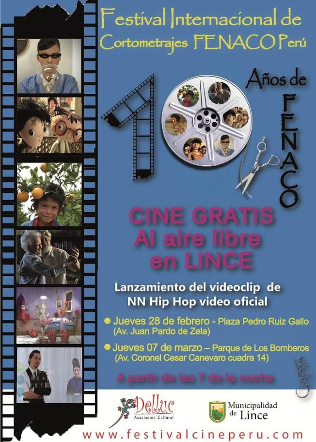 Muestra de cortometrajes por los 10 años de FENACO Perú en Lince